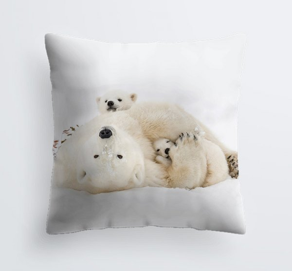 Cubby Hole Polar Bears Pillow