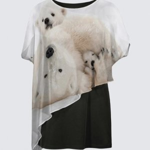 Cubby Hole Polar Bears Tunic Top