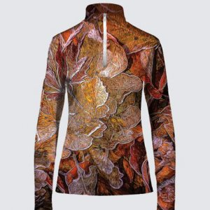 Autumn Leaves Zipper Top