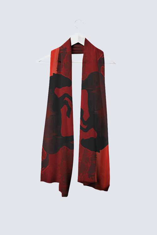 Celebration in Red Long Scarf
