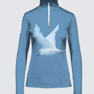Ivory Gulls in Flight Zipper Top