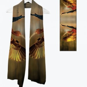 Ibis Magic - Fine Art Scarves