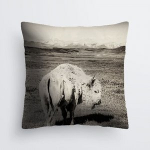 White Buffalo Pillow